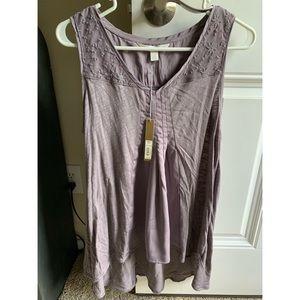 Size S lavender sleeveless blouse